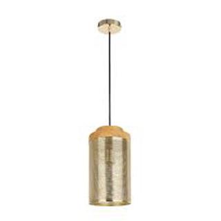 PENDENTE TELINHA DUO 15CMX178CM 1XE27 - Bronze/Madeira   BELLA CI005A