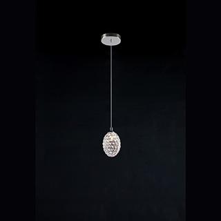 PENDENTE GOUTTE 10cmx15cm 1XG9 BIVOLT – Cromado/Transparente   BELLA GA014 1