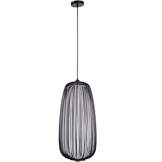 PENDENTE ARAL 33cmx70cm  LED 8W – Preto   BELLA KE007B 1