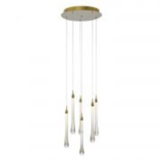 PENDENTE GOCCIA 40cmx41cm 6x2W LED – Dourado | BELLA OC002L 1