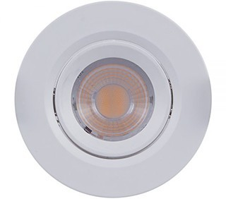 SPOT/LUMINÁRIA DE EMBUTIR LED DOWNLIGHT REDONDO 2700K (LUZ AMARELA) 3W MINI DICROICA | BRILIA 302846