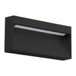 BALIZADOR DE PAREDE DE SOBREPOR LED RETANGULAR IP54 3000K (LUZ AMARELA) 8W BIVOLT METAL GRAFITE | BRILIA 303379