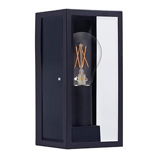 ARANDELA BOX RETANGULAR 3 FACES IP44 METAL GRAFITE E VIDRO   BRILIA 303539
