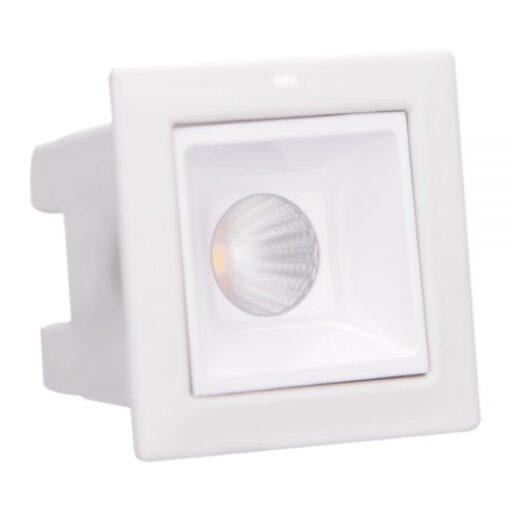 SPOT/LUMINÁRIA DE EMBUTIR LED BRANCO DOWNLIGHT QUADRADO 2700K (LUZ AMARELA) 2W BIVOLT | BRILIA 303638 1
