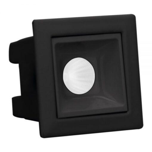 SPOT/LUMINÁRIA DE EMBUTIR LED PRETO  DOWNLIGHT QUADRADO 2700K (LUZ AMARELA) 2W BIVOLT | BRILIA 303645 1