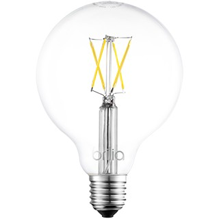 LÂMPADA LED G95/GLOBO E27 FILAMENTO 2700K (LUZ AMARELA) 4W BIVOLT   BRILIA 433591 1