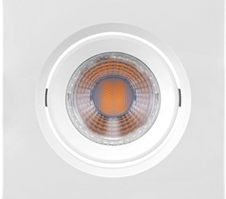 SPOT/LUMINÁRIA DE EMBUTIR LED DOWNLIGHT QUADRADO 6500K (LUZ BRANCA) 3W MINI DICROICA | BRILIA 435892 1