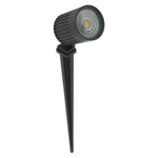 PROJETOR DE SOLO FINCO - LED 3000K(LUZ AMARELA) 6W 12V 30° | INTERLIGHT 3027-W