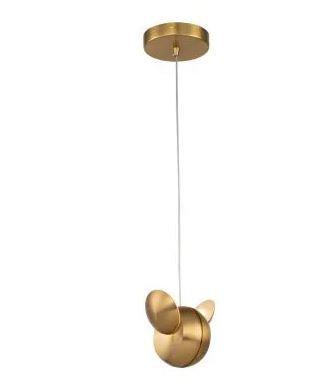 PENDENTE PAPILLON 12cmx12cm 2x3W LED Dourado | BELLA EG001 1